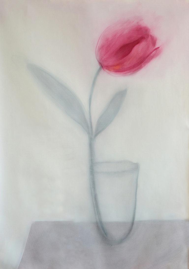 olio su tela tulipano natura morta